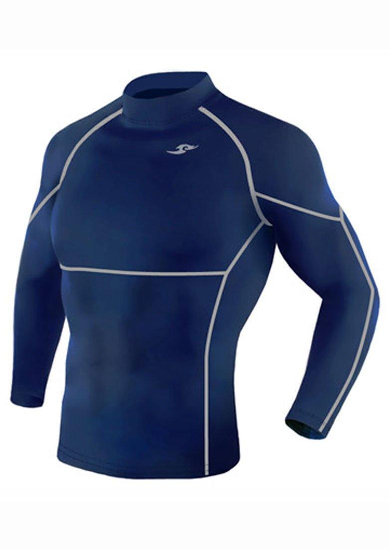 Take Five Mens Skin Tight Compression Base Layer Running Shirt S~2XL Navy 013