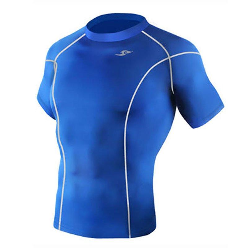 Take Five Mens Skin Tight Compression Base Layer Running Shirt S~2XL Blue 035