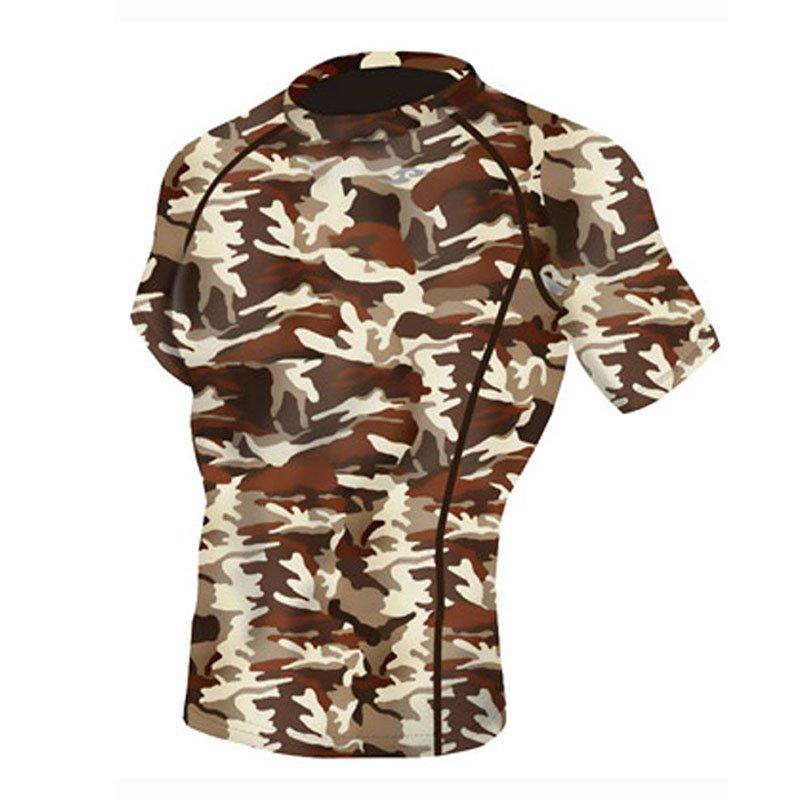 Take Five Mens Skin Tight Compression Base Layer Running Shirt S~2XL Camo 063