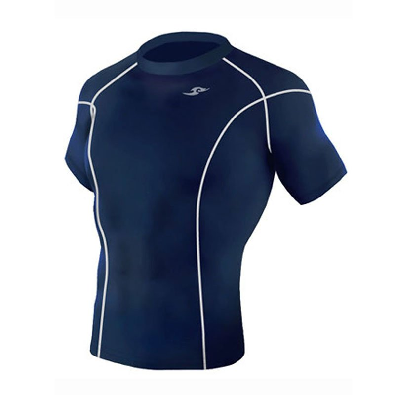 Take Five Mens Skin Tight Compression Base Layer Running Shirt S~2XL Navy 031