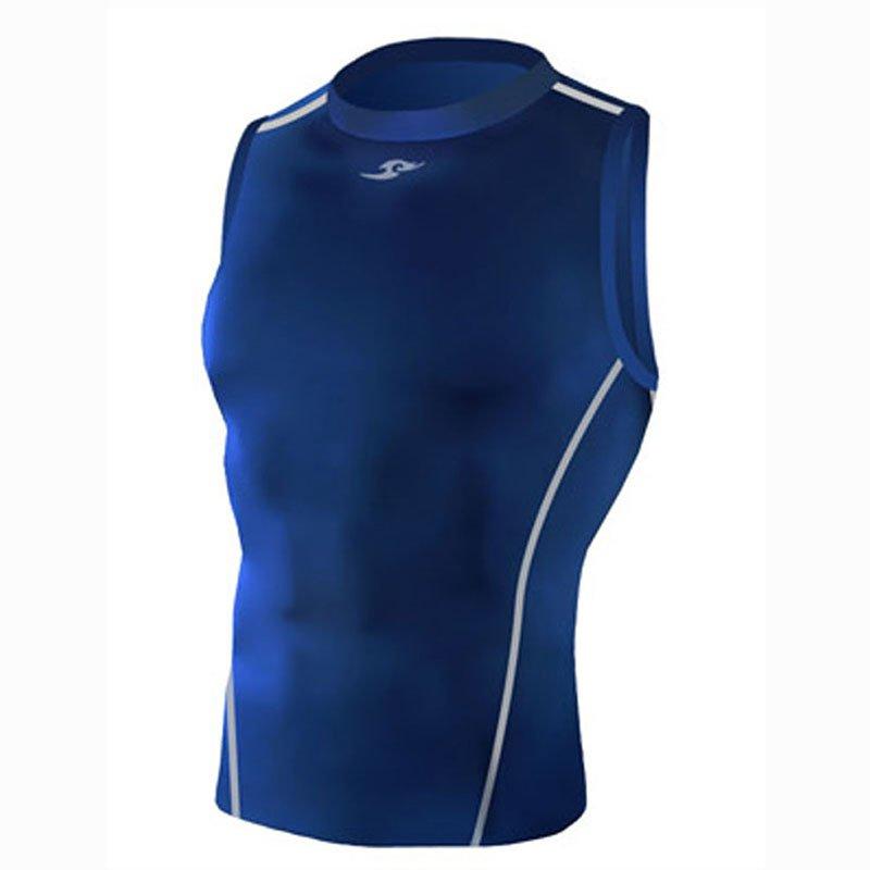 Take Five Mens Skin Tight Compression Base Layer Running Shirt S~2XL Navy 044