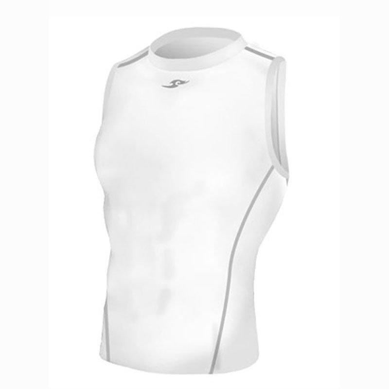 Take Five Mens Skin Tight Compression Base Layer Running Shirt S~2XL White 042