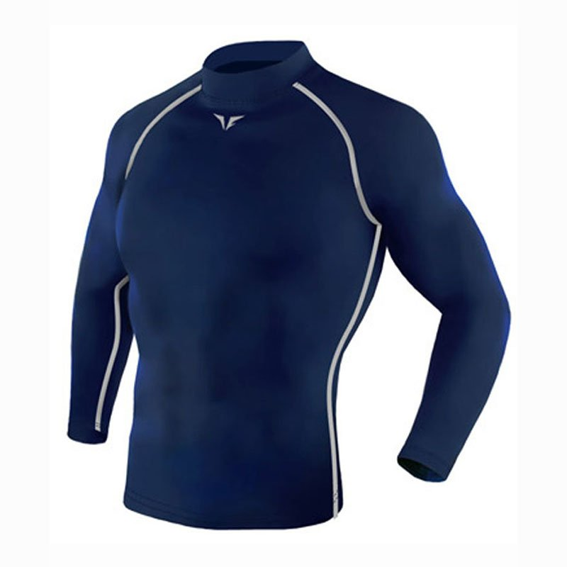 Take Five Mens Skin Tight Compression Base Layer Running Lining Shirt Navy 220
