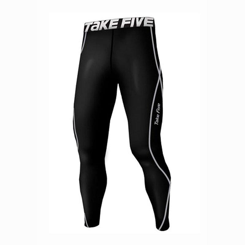 Take Five Mens Skin Tight Compression Base Layer Running Pants Leggings 011