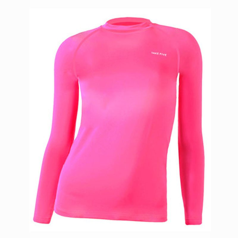 Take Five Womens Skin Tight Compression Base Layer Running Shirt S~XL Hotpink 207