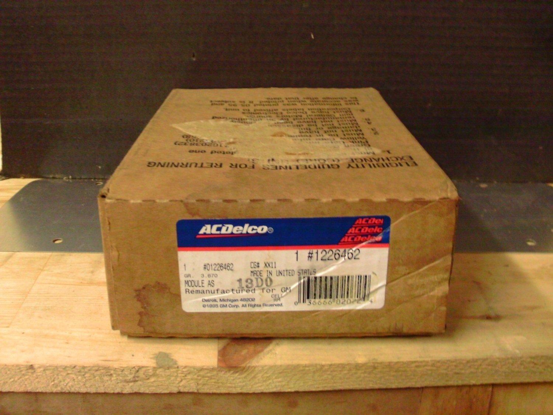 ACDelco 1226462 / 88999120 Original Equipment OE NOS ECM Control Module General Motors GM