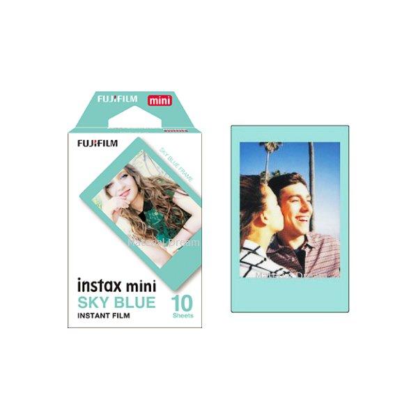 Sky Blue Fujifilm Instax Mini Films Polaroid Photos Accessory