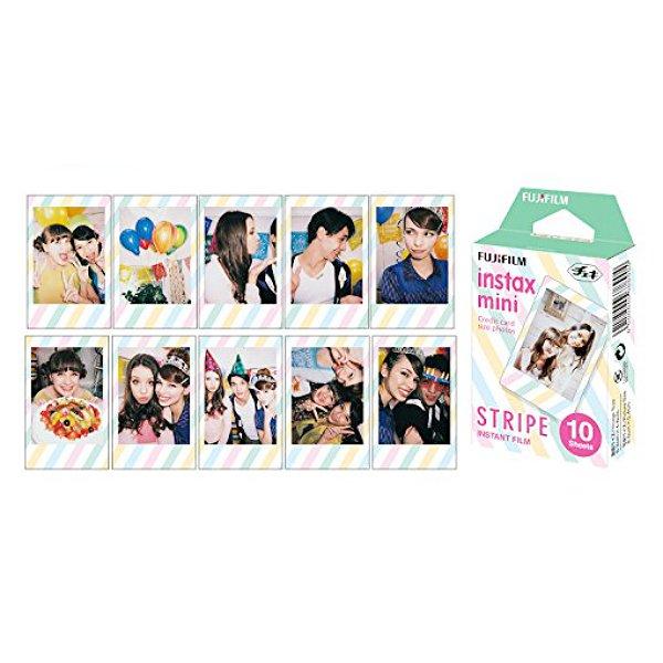Stripe Fujifilm Instax Mini Films Polaroid Photos Accessory