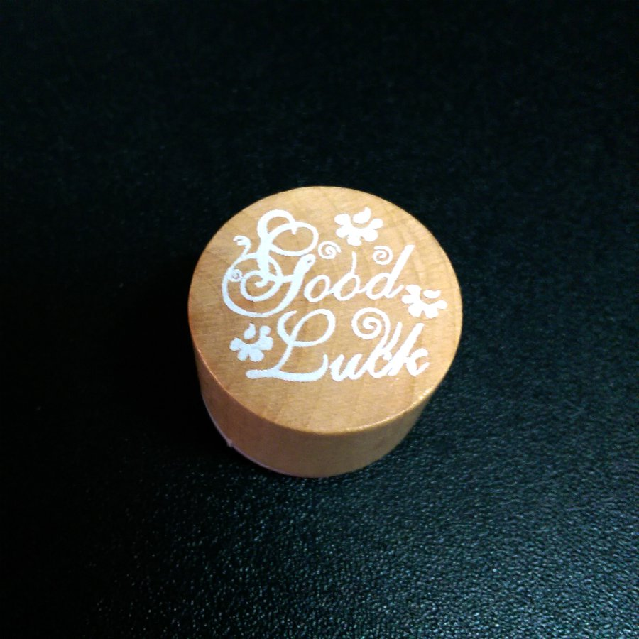 Rubber Stamp Good Luck for Greeting Card Design