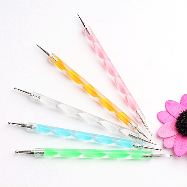 5 Double Sided Nail Decal Dotting Pen Nail Art Tools