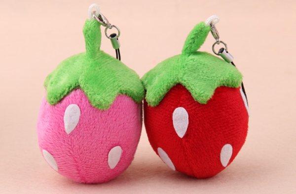 2 Kawaii Strawberry Stuffed Doll Soft Plush Toy Accessories Decoration