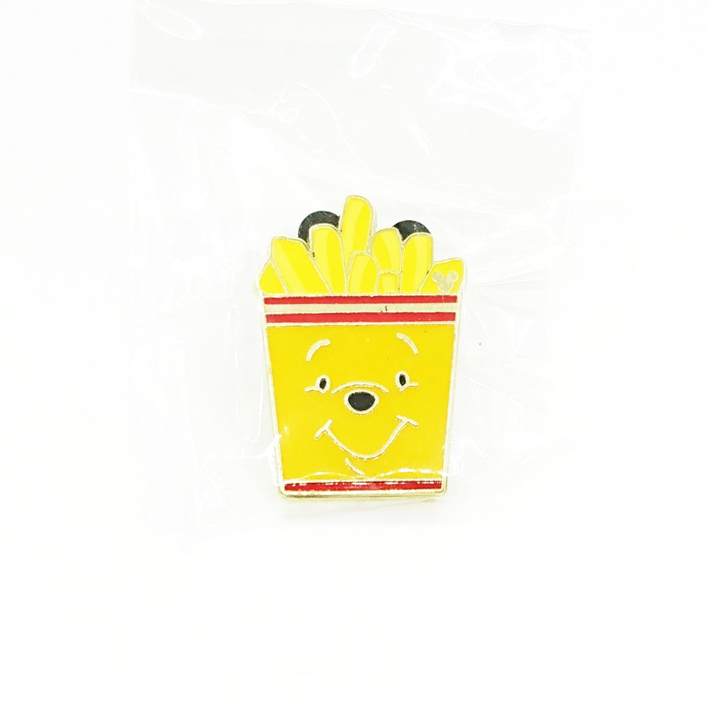 Disney Winnie the Pooh Pins Hong Kong Disneyland Pin Trading Carnival Food French Fries