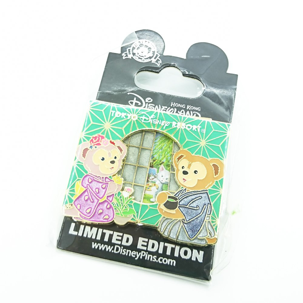 Disney Pins Limited Edition Duffy ShellieMay Gelatoni Tea Ceremony Movable Parts Pin Trading