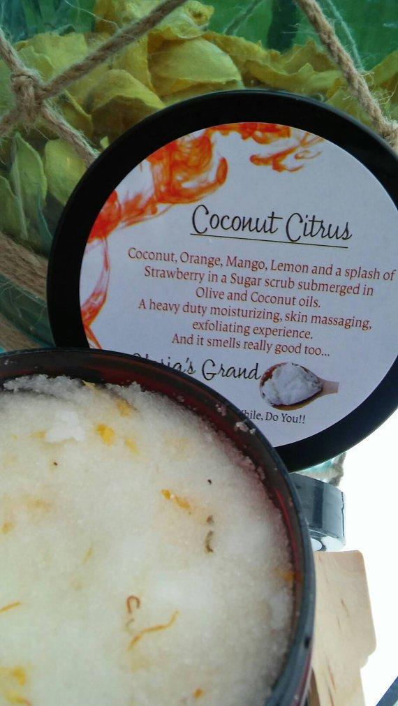 Glorias Grand Coconut Citrus Body Scrub