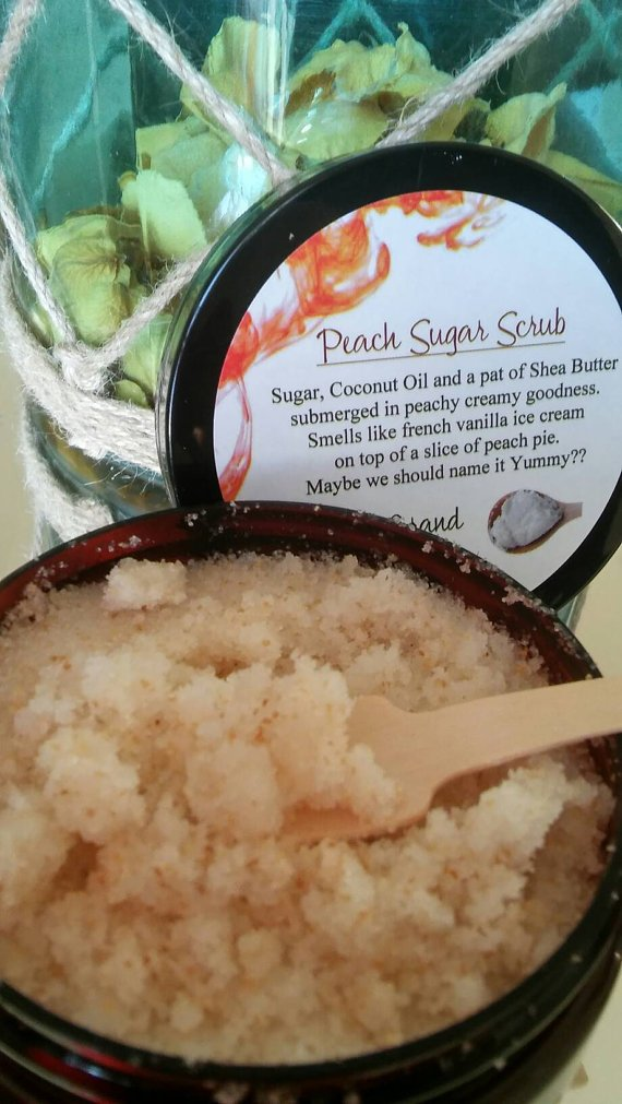 Glorias Grand Peach Sugar Body Scrub