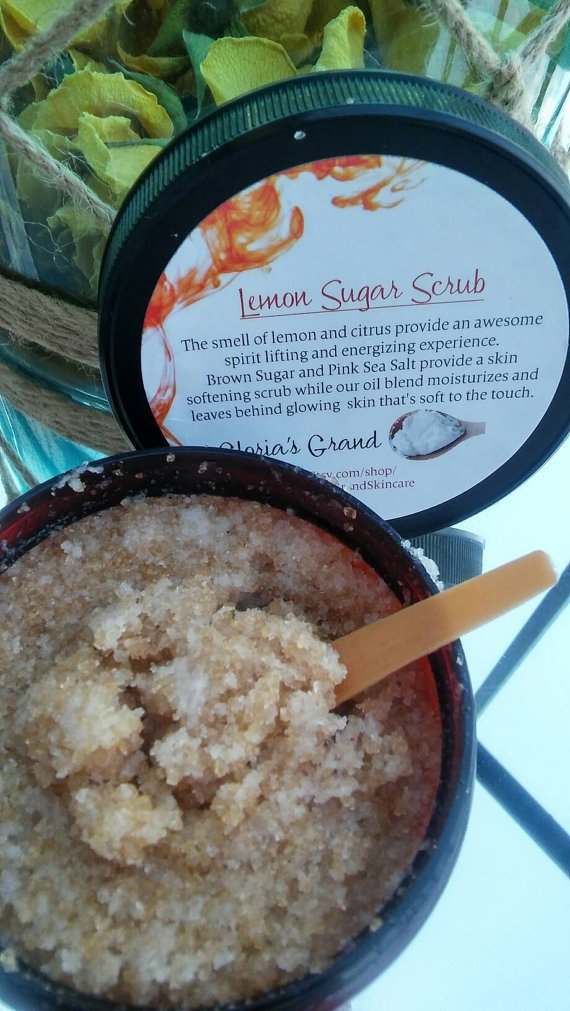 Glorias Grand Lemon Sugar Body Scrub