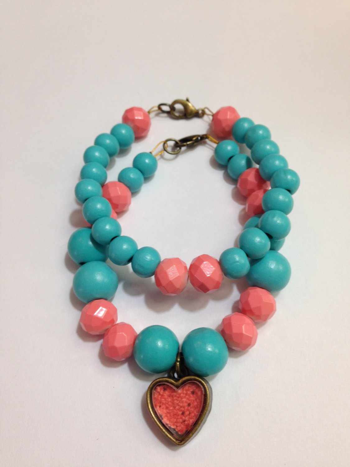Bead Bracelet Pink and Blue