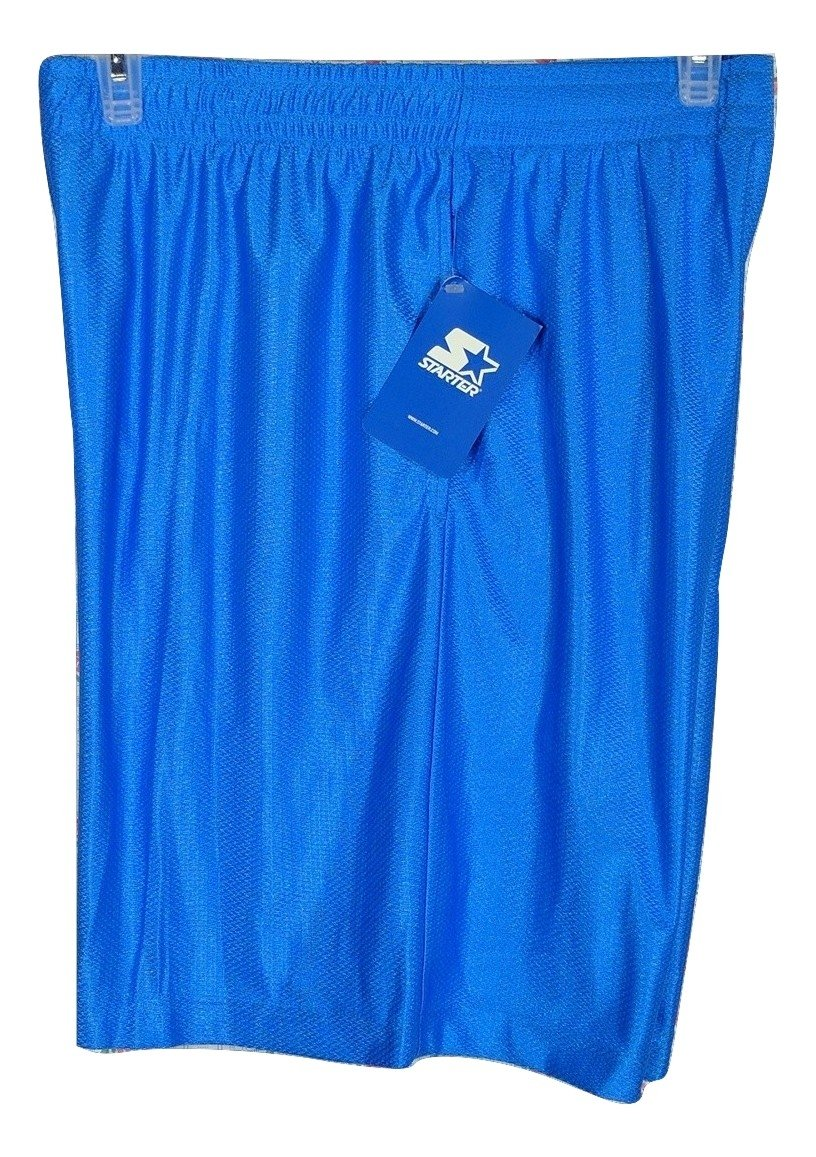 New, Men's Starter Dazzle Short, Color Blue, Size X-Large