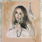 Sabrina Carpenter Colored Pencil Drawing