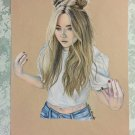 Sabrina Carpenter Colored Pencil Drawing 3