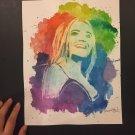 Sabrina Carpenter Crayon and Watercolor Art