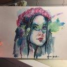 Sabrina Carpenter Watercolor Painting 2