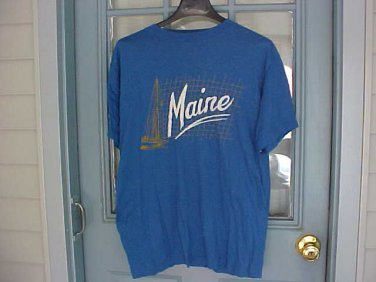 Mens Maine Blue Tee Shirt