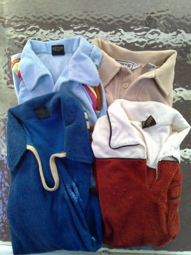Mens Terry Sport Shirts Lot of 4