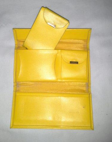 Vintage Yellow Vinyl Ladies Wallet