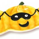 Ceramic Triple Pumpkin Plate,