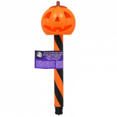 "Halloween Plastic Solar-Powered Stake Lights, 12"" set of 12"