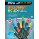 Sylvania Staylit Multicolored Glass-Look LED Lights, 200 ct.
