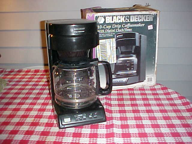 Black And Decker Coffee Maker Spring : Black & Decker 10 Cup Drip Coffee Maker with Digital Clock