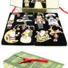 Wooden Christmas Ornament set of 12