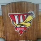 Vintage Winston Wood Cabinet with Dart Board