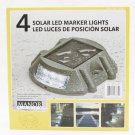 Manor House Solar Powered Outdoor Dock & Deck Marker LED Lights 4-Pack