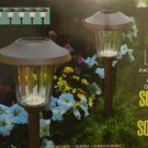 Naturally Solar 8 LED Solar Pathway Lights w/ Bronze Finish
