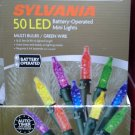 Sylvania 50 LED Battery Operated Clear or Multi