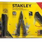 Stanley Knife, Multi Tool (12 Tools in 1) & 150 Lumens Flashlight 3 Pc Set