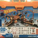 Hot Wheels 100 pc Track Builder Sytem Jumbo Stunt Box with 3 Cars Building