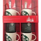 Starbucks Gift Pack - 4 Porcelain 14oz Mugs, 2 Via Instant & 2 Hot Cocoa Packets