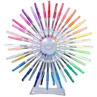 Scribble Stuff Pen Wheel Reusable Pen Display - 40 ct Gel Pens