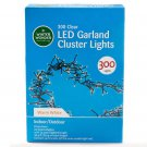 LED Garland Cluster Light Set, 300-Count Warm White