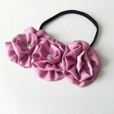 Violet Flower Elastic Headband