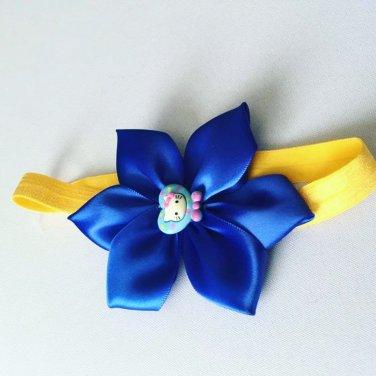 Blue Hellow Kitty Flower Headband