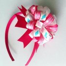 Pink Loopy puff Headband