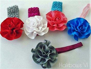 Grosgrain Flowers Headband Lot