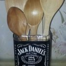 Jack Daniels Whiskey Hand Cut Upcycled Glass CLEARANCE!