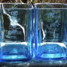 Bombay Sapphire Gin Upcycled Hand Cut Glass Tumblers X4