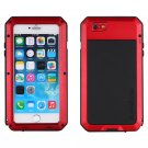 Apple iPhone 6 PrimeTime Red Metal Water Shockproof Tempered Glass Case Cover